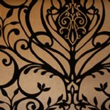 Flamante Flock Wallpaper 99056 Moreska Mocha By Holden Decor